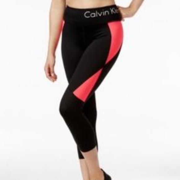 2b03b138e5 Calvin Klein Pants - Calvin Klein Performance Color-Blocked Leggings -S